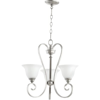 Celesta 3-Light Shaded Chandelier Finish: Classic Nickel