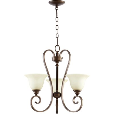 Celesta 3-Light Shaded Chandelier Finish: Oiled Bronze