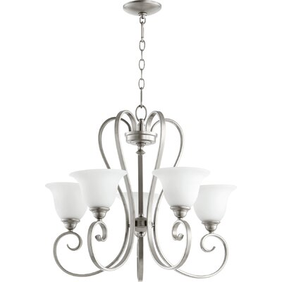 Celesta 5-Light Shaded Chandelier Finish: Classic Nickel