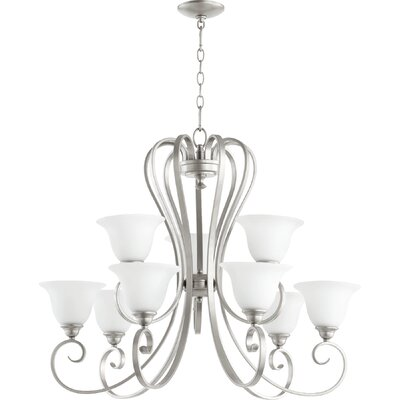 Celesta 9-Light Shaded Chandelier Finish: Classic Nickel