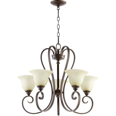 Celesta 5-Light Shaded Chandelier Finish: Oiled Bronze