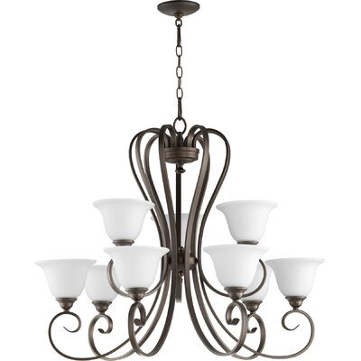 Celesta 9-Light Shaded Chandelier