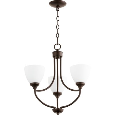 Enclave 3-Light Shaded Chandelier Finish: Oiled Bronze