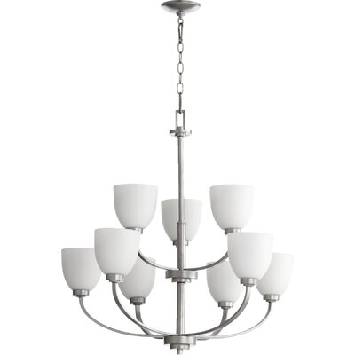 Reyes 9-Light Shaded Chandelier Finish: Classic Nickel
