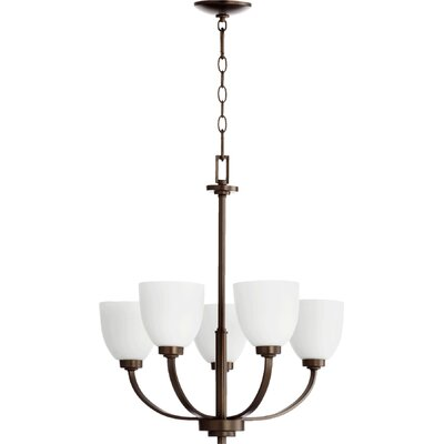 Reyes 5-Light Shaded Chandelier Finish: Oiled Bronze