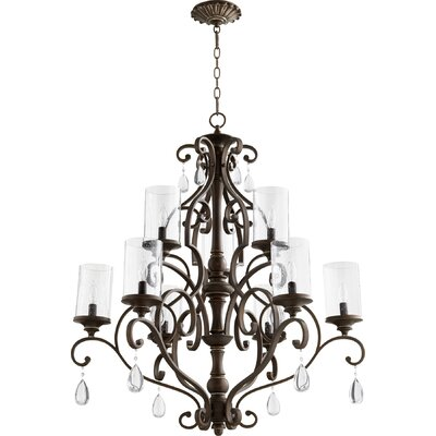 San Miguel 9-Light Candle-Style Chandelier Finish: Vintage Copper