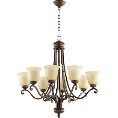 Tribeca 8-Light Shaded Chandelier Finish: Oiled Bronze