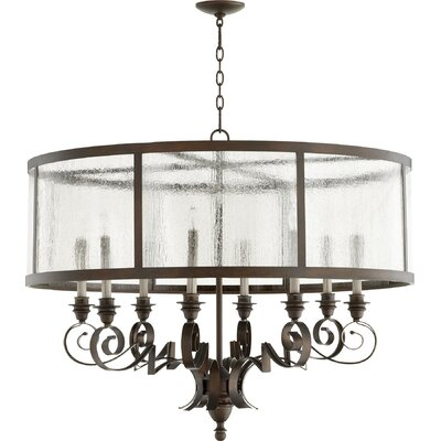 Champlain 8-Light Drum Chandelier Size: 38 H  x 30.5 W x 30.5 D