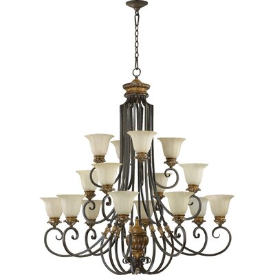 Capella 16-Light Shaded Chandelier