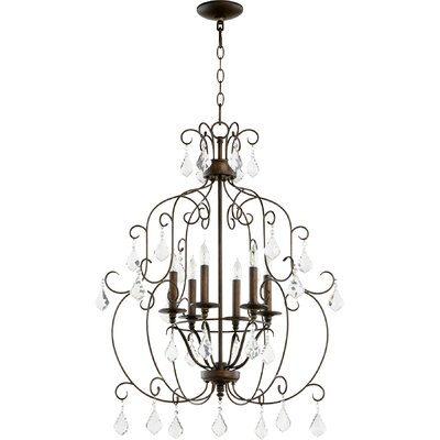 Ariel 6-Light Candle-Style Chandelier Finish: Vintage Copper
