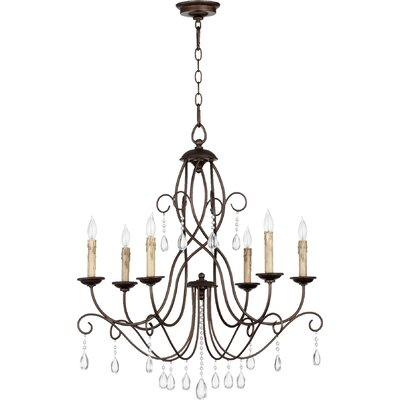 Cilia 6-Light Candle-Style Chandelier Finish: Oiled Bronze