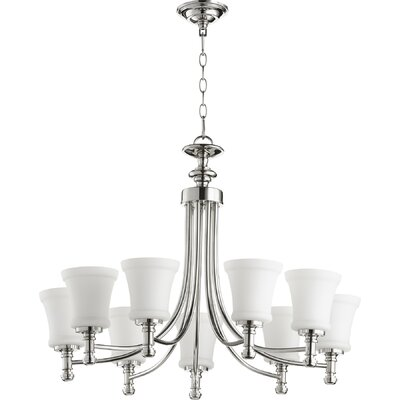 Rossington 9-Light Shaded Chandelier Finish: Polished Nickel