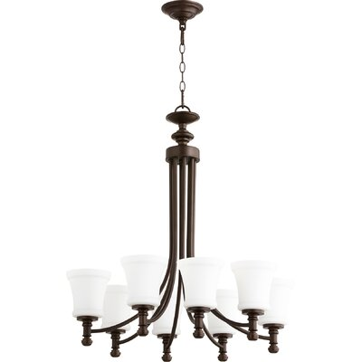 Rossington 8-Light Shaded Chandelier Finish: Oiled Bronze