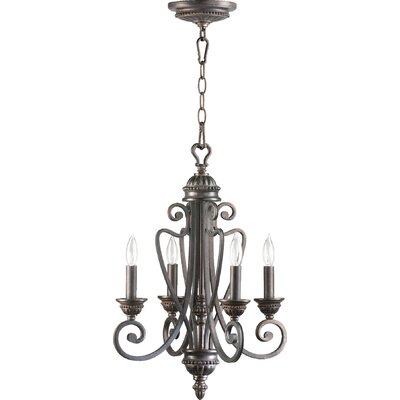 Summerset 4-Light Candle-Style Chandelier Finish: Toasted Sienna
