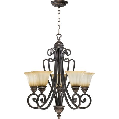 Summerset 5-Light Shaded Chandelier