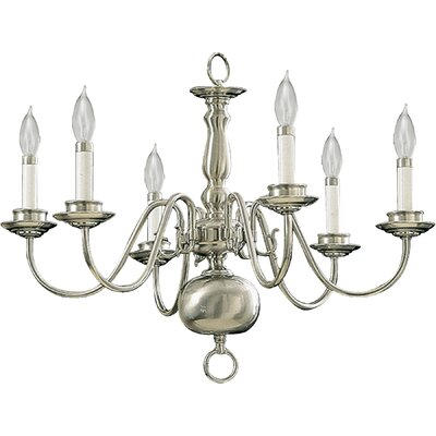 6-Light Candle-Style Chandelier