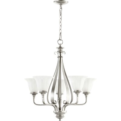 Randolph 5-Light Shaded Chandelier Finish: Classic Nickel