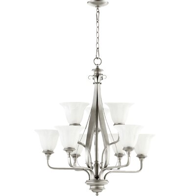 Randolph 9-Light Shaded Chandelier Finish: Classic Nickel