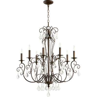 Ariel 8-Light Candle-Style Chandelier Finish: Vintage Copper