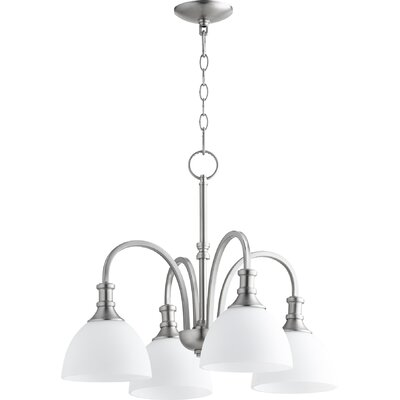 Richmond 4-Light Shaded Chandelier Finish: Satin Nickel