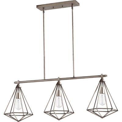 Bennett 3-Light Kitchen Island Pendant Finish: Antique Silver