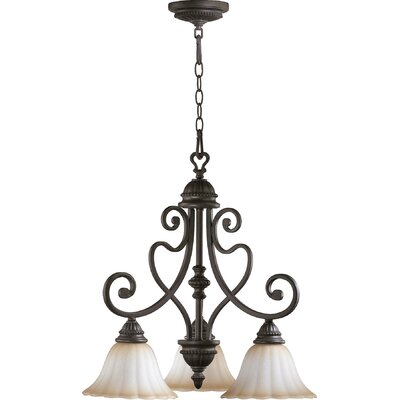 Summerset 3-Light Shaded Chandelier Finish: Toasted Sienna