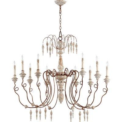 La Maison 10-Light Candle-Style Chandelier