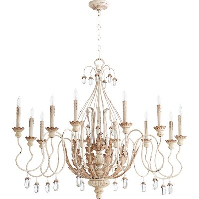 Venice 12-Light Candle-Style Chandelier Finish: Persian White