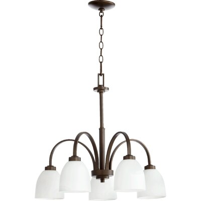 Reyes 5-Light Nook Pendant Finish: Oiled Bronze