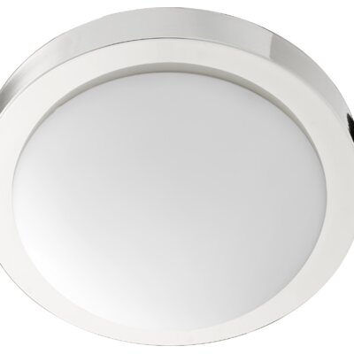 Ascella 2-Light Flush Mount Fixture Finish: Polished Nickel, Size: 3.75 H x 13 W