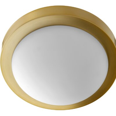 Ascella 2-Light Flush Mount Fixture Finish: Aged Brass, Size: 3.75 H x 11 W