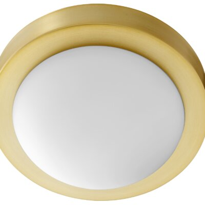 Ascalon 1-Light Flush Mount Fixture Finish: Aged Brass
