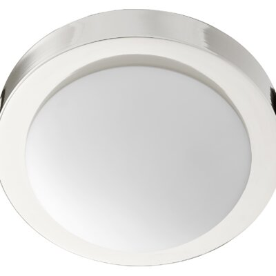 Ascalon 1-Light Flush Mount Fixture Finish: Polished Nickel