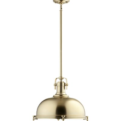 Gaskell 1-Light Inverted Pendant Finish: Aged Brass