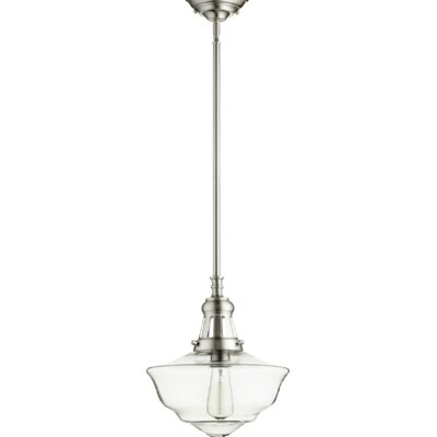Garvey 1-Light Schoolhouse Pendant Finish: Satin Nickel