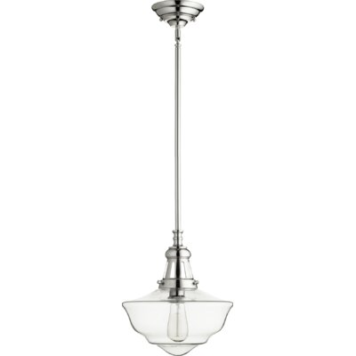 Garvey 1-Light Schoolhouse Pendant Finish: Polished Nickel