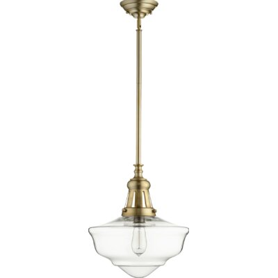 Garron 1-Light Schoolhouse Pendant Finish: Aged Brass