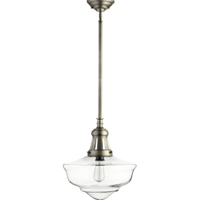 Garron 1-Light Schoolhouse Pendant Finish: Antique Silver