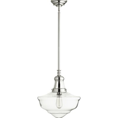 Garron 1-Light Schoolhouse Pendant Finish: Polished Nickel