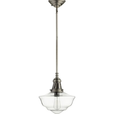 Garvey 1-Light Schoolhouse Pendant Finish: Antique Silver
