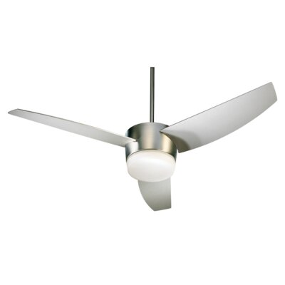 54 Trimark 3-Blade Ceiling Fan Finish: Satin Nickel with Satin Nickel Blades