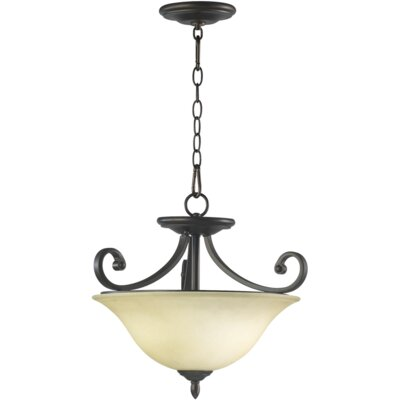 Asheville 3-Light Dual Mount Inverted Pendant Finish: Oiled Bronze
