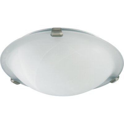 Ceiling Mount Size: 4.75 H x 16 W, Finish: Satin Nickel