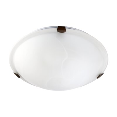 Ceiling Mount Size: 3 H x 12 W, Finish: Oiled Bronze