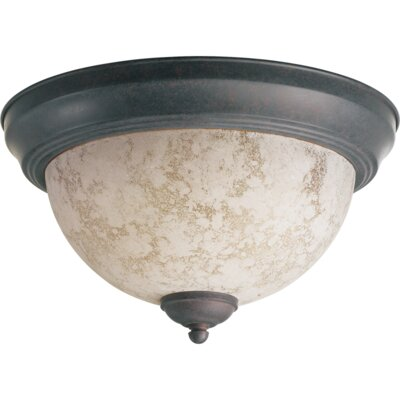 Naturals Flush Mount Finish: Toasted Sienna, Size: 6.5 H x 13 W