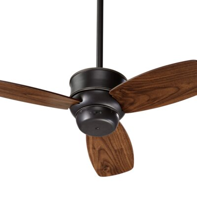 32 Ashton Ridge 3-Blade Ceiling Fan Finish: Old World with Walnut Blades