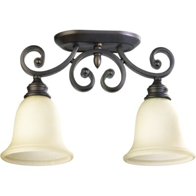 Bryant 2-Light Ceiling Mount Finish: Oil Rubbed Bronze