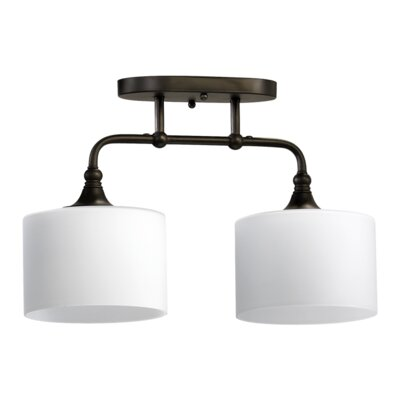 Rockwood 2-Light Ceiling Mount in Oiled Bronze