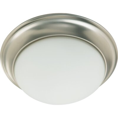 Flush Mount Size: 5.5 H x 14 W, Finish: Satin Nickel