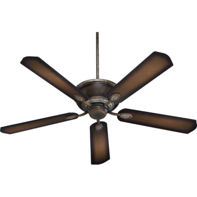 60 Kingsley 5-Blade Ceiling Fan Finish: Mystic Silver with Pecan Blades